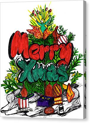 Merry Xmas Canvas Print