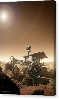 Canvas Print featuring the digital art Mers Rover by Bryan Versteeg