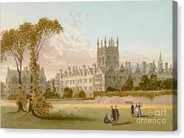 Merton College, Oxford Canvas Print by English School