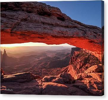 Mesa Arch At Sunrise 2, Canyonlands National Park, Utah Canvas Print