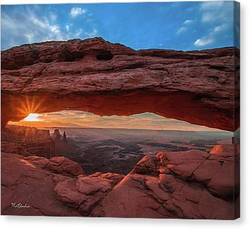 Mesa Arch At Sunrise 3, Canyonlands National Park, Utah Canvas Print
