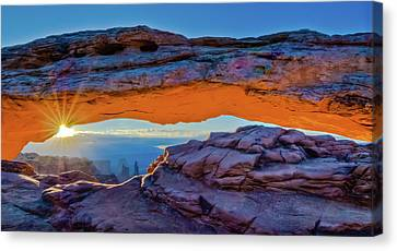 Mesa Arch At Sunrise Canvas Print by Harry Strharsky