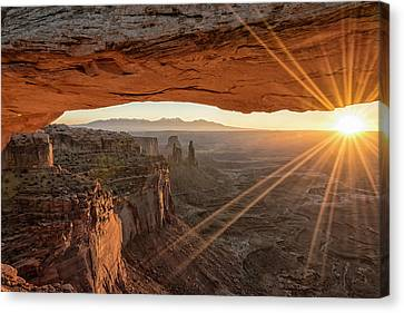 Canyon Canvas Print - Mesa Arch Sunrise 4 - Canyonlands National Park - Moab Utah by Brian Harig