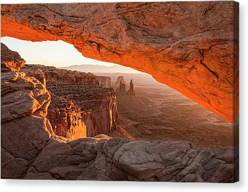 Mesa Arch Sunrise 5 - Canyonlands National Park - Moab Utah Canvas Print by Brian Harig