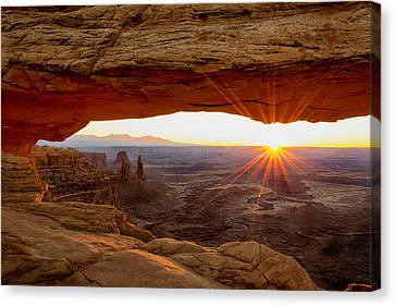 Red Skies Canvas Print - Mesa Arch Sunrise - Canyonlands National Park - Moab Utah by Brian Harig