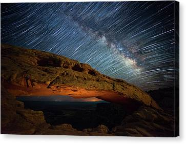 Star Trails Canvas Print - Mesa Star Storm by Darren White