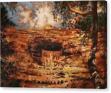 Mesa Verde Colorado Canvas Print by Tom Shropshire