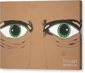 Canvas Print featuring the painting Mesmerized Eyes by Jeffrey Koss