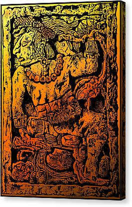 Mesoamerican  Mayan Figure Eight Century Mexico Canvas Print by Larry Butterworth
