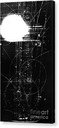 Particle Detector Canvas Print - Mesons, Bubble Chamber Event by Science Source