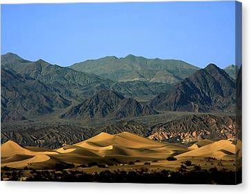 Mesquite Flat Sand Dunes - Death Valley National Park Ca Usa Canvas Print