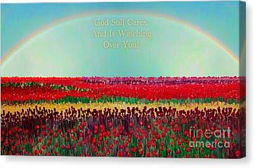 Message From The Other Side With A Bit Of Christmas Color Cheer Canvas Print by Kimberlee Baxter