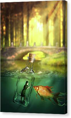 Message In A Bottle Canvas Print by Nathan Wright