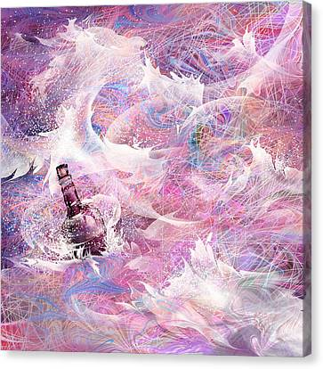 Message In A Bottle Canvas Print by Rachel Christine Nowicki