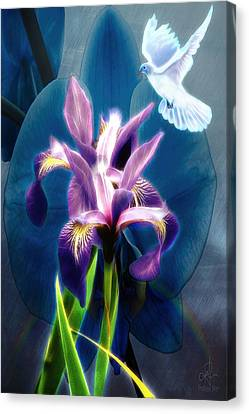 Canvas Print featuring the digital art Message Of Peace by Pennie McCracken