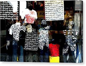 Messed Up Fashion Canvas Print by Jez C Self