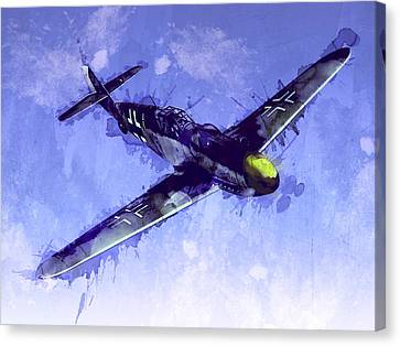Fighter Canvas Print - Messerschmitt Bf 109 by Michael Tompsett