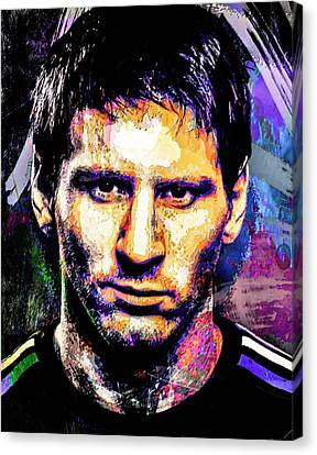 Messi Canvas Print by Svelby Art