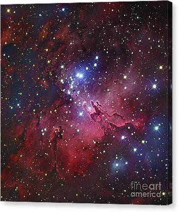 Messier 16, The Eagle Nebula In Serpens Canvas Print by Robert Gendler
