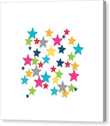 Messy Stars- Shirt Canvas Print by Linda Woods