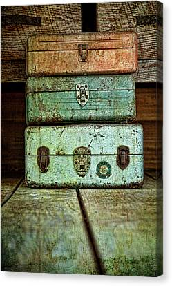 Metal Boxes Canvas Print by Tom Mc Nemar