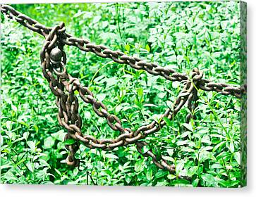 Metal Chain Canvas Print