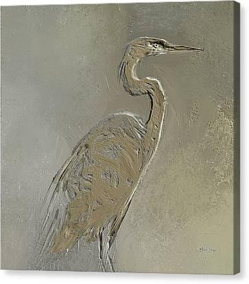 Metal Egret 3 Canvas Print