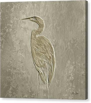 Metal Egret 4 Canvas Print
