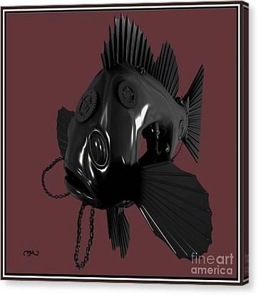 Metal Fish 19mf1 Canvas Print