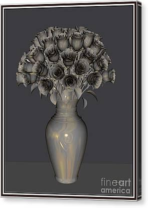 Metal Flowers 3mf1 Canvas Print