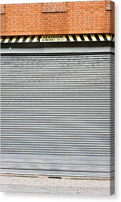 Metal Garage Canvas Print