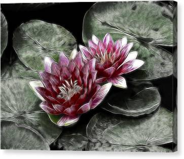 Metal Lilies Canvas Print