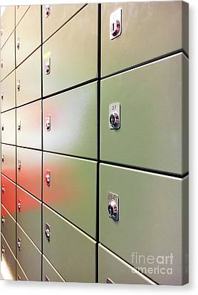 Metal Mail Lockers Canvas Print by Tom Gowanlock