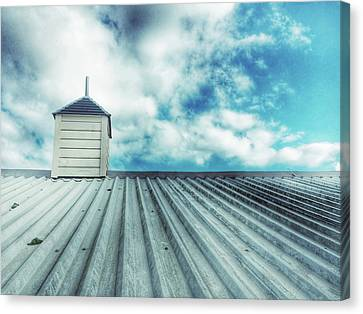 Metal Roof Detail Canvas Print by Tom Gowanlock