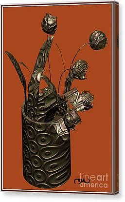 Metal Tulips 1mt Canvas Print