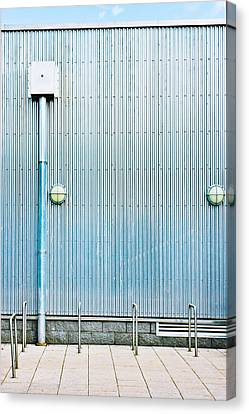 Drain Canvas Print - Metal Wall by Tom Gowanlock