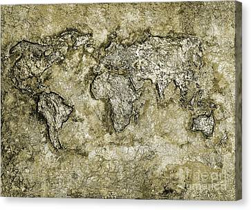 Bas Relief Canvas Print - Metal World 2 by Callan Percy