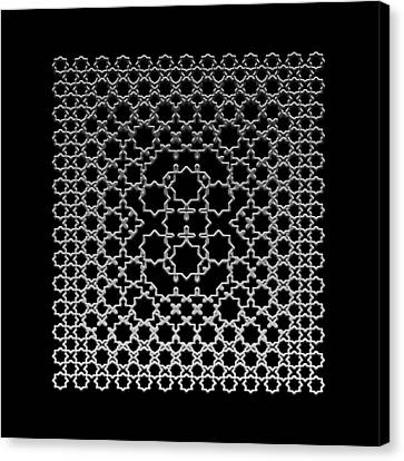Canvas Print featuring the digital art Metallic Lace Axxxv by Robert Krawczyk