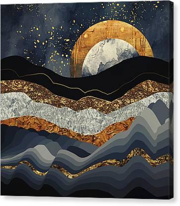 Metallic Mountains Canvas Print by Katherine Smit