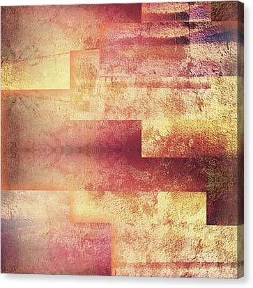 Metallic Red Gold Abstract Canvas Print by Brandi Fitzgerald