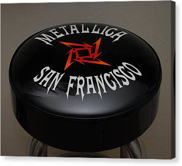 Metallica Bar Stool Canvas Print by Rob Hans