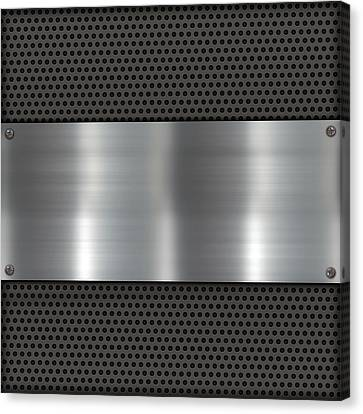 Metalplate On Carbon Canvas Print