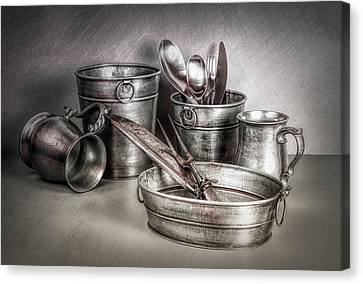 Metalware Still Life Canvas Print by Tom Mc Nemar