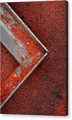 Angle Iron...raw Steel 2 Canvas Print by Tom Druin