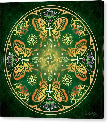 Buddhist Canvas Print - Metamorphosis Mandala by Cristina McAllister