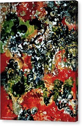 White Canvas Print - Metaphysical Cut Of Life by Carmen Fine Art