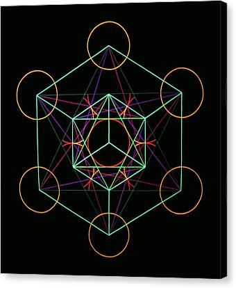Metatron Canvas Print by Heather Crowther