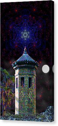 Metatron Nocturnal Canvas Print by Iowan Stone-Flowers