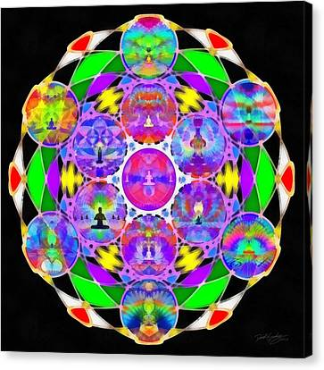 Canvas Print featuring the digital art Metatron's Cosmic Ascension by Derek Gedney