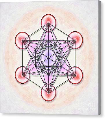 Metatron's Cube - Artwork 1 Canvas Print by Dirk Czarnota